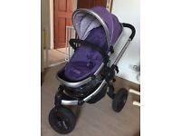 Icandy peach jogger loganberry with carrycot