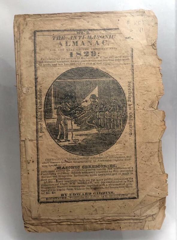1829 Anti-Masonic Almanac by Edward Giddins, No. 2, Rare Book/booklet
