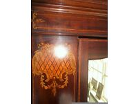 Stunning, antique, mahogany wardrobe, in very good condition.