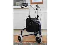 Live Well Easy Stroller Adjustable Tri-Walker Walking Frame