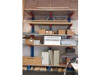 Cantilevered Racking System for Heavy duty, storage. Pallet, wood, tubes, panel, worktops, Glasgow