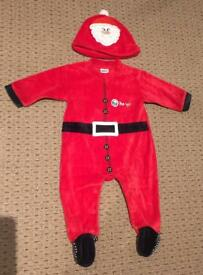 Santa Suit 3-6mnths from Tesco