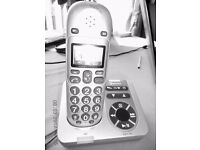 Amplicomms Big Tel 280 for sale. Cordless DECT amplifier with XL buttons and XL display.