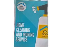Home cleaning and ironing service.