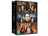 Box set of Trilogy of films by Dan Brown Da Vinci Code, Angels & demons and Inferno