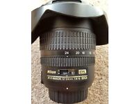 Nikon Wide Angle 12-24 f4G ED DX lens PLUS camera accessories - All in Excellent Condition