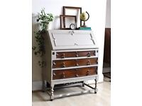 Stunning Antique Shabby Chic Painted Bureau Desk. Free delivery