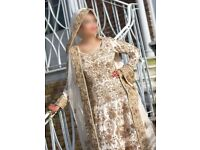 Asian Wedding Bridal Dress - Classic - Vintage Gold