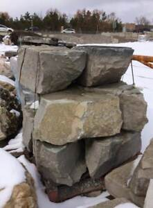 Armor stone of all kinds, limestone retaining wall blocks, edging, natural stone for raised beds, etc. Pickup, delivery.