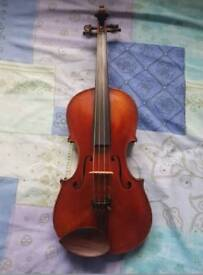 German violin c1890 with bow and hard case