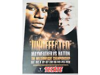 Signed Ricky Hatton posters