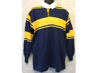 """Mens Rugby Shirt Stripe Long Sleeve Rugby Jersey Polo Shirt Top Size 46"""" (#4849)"""