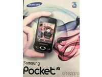 Samsung GT-S3370 (Unlocked) 3G smart Mobile Phonee. All Sims Touch Screen