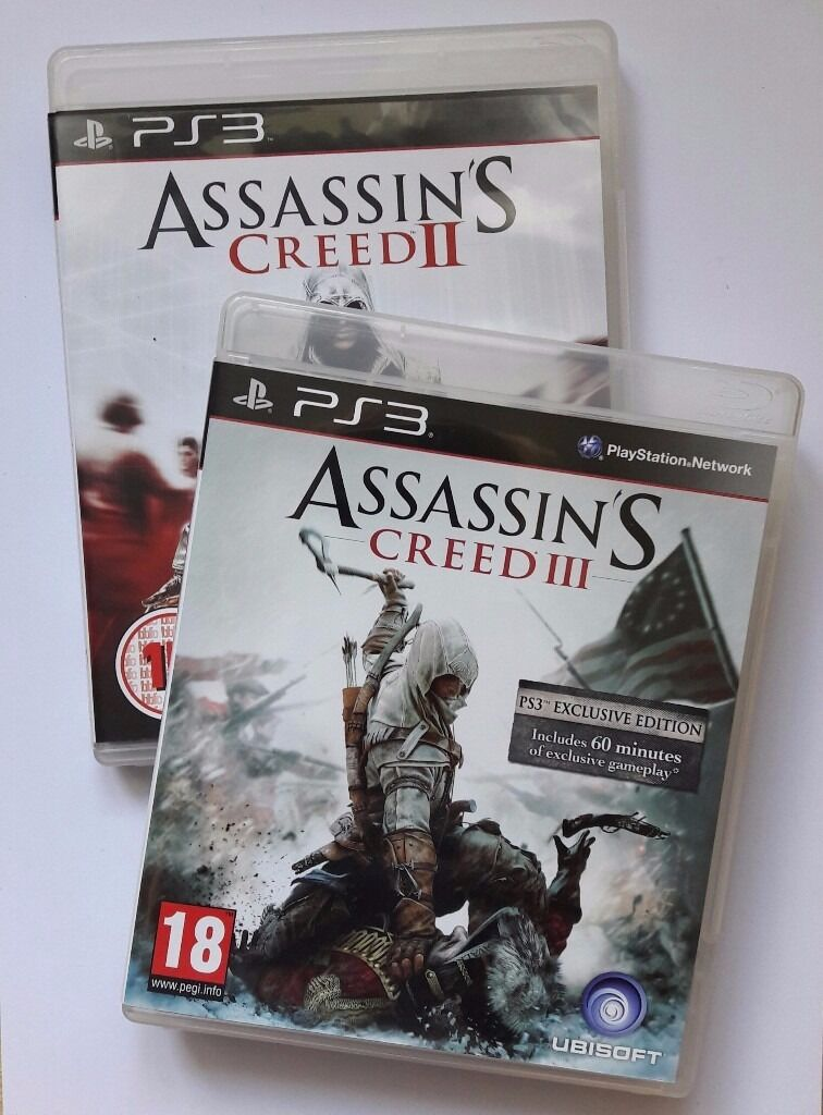 Assassins Creed SETAC 2AC3PS3 LIKE NEWin Furzton, BuckinghamshireGumtree - Assassins Creed set including Assassins Creed II and Assassins Creed III for PlayStation 3. Condition of both discs is LIKE NEW, no scratches. Do not hesitate to contact me about any details, thank you