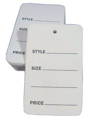500 White Unstrung Garment Merchandise Price Tags Sm Retail Store Supply