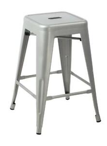 Galaxy Counter Height Metal Stools Silver NEW (30 IN STOCK ) ** MARCH BREAK BLOW OUT SALE ** 5 CORNERS FURNITURE **