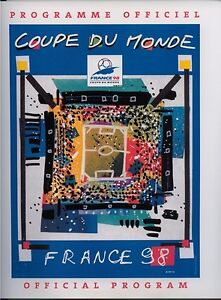 WORLD CUP OFFICIAL TOURNAMENT PROGRAMME FRANCE 1998
