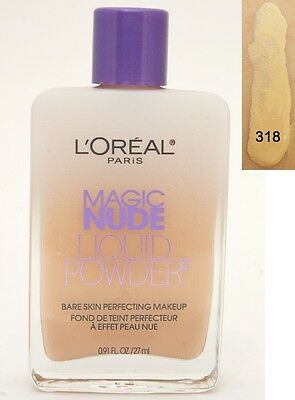 Natural Perfecting Powder Foundation - L'oreal Magic Nude Liquid Powder Bare Skin Perfecting Makeup -318 Natural Buff-