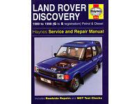 HAYNES LAND ROVER DISCOVERY SERVICE REPAIR MANUAL 1989 to 1998 PETROL & DIESEL