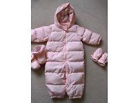 GAP Light pink snowsuit - age 12-18 months