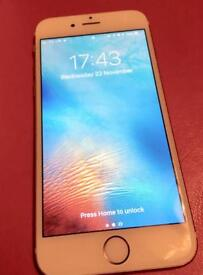 iPhone 6s rose gold (pink) 16g immaculate condition