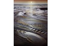 Beautiful large beach sunset print on Canvas