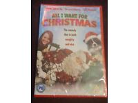 ALL I WANT FOR CHRISTMAS DVD FESTIVE FILM MOVIE, BRAND NEW AND SEALED
