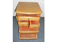 Sewing Cabinet or Side Table or Bedside with 5 Drawers and 2 Side Pockets