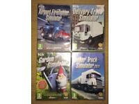 4 Simulator PC Games Bundle BNIBs