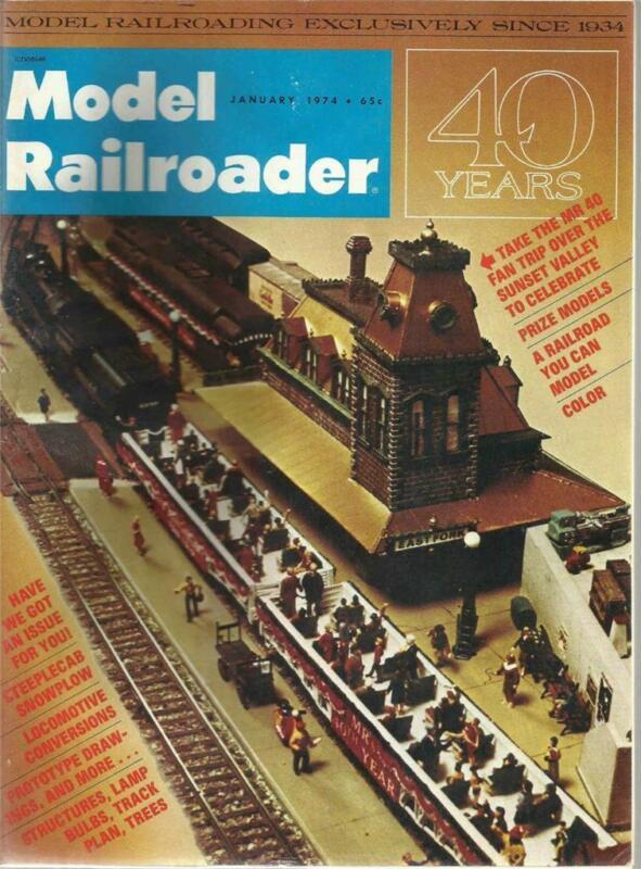 Model Railroader January 1974 Rowley MA Station & Steeplecab Snowplow Drawings