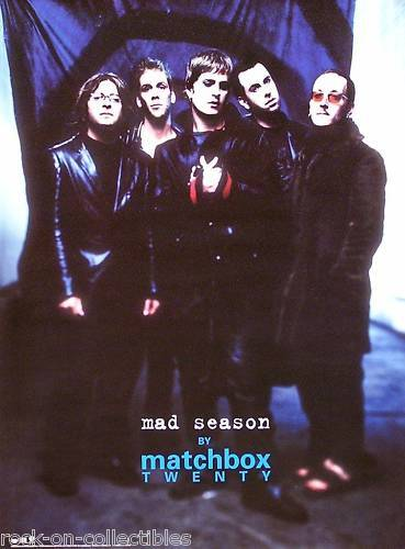 Matchbox Twenty 2000 Mad Season Original Group Shot Promo Poster