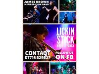 James Brown inspired funk band available for your event.