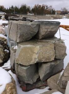 Armor stone of all kinds, limestone retaining wall blocks, stone edging, natural stone for raised beds: buy few or much.