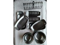 Stainless kitchenware holder and small plates