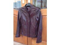 Ladies Leather Jacket - Monsoon