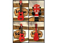 Woodstock Soprano Ukulele Red Finish - Slightly marked - only £12!!!!