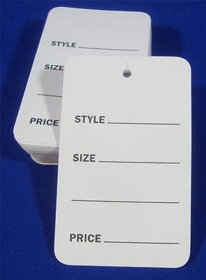 500 White Unstrung Garment Merchandise Price Tags Lg Retail Store Supply