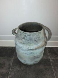 New Shabby Chic Distressed Finish Large Vintage Pot
