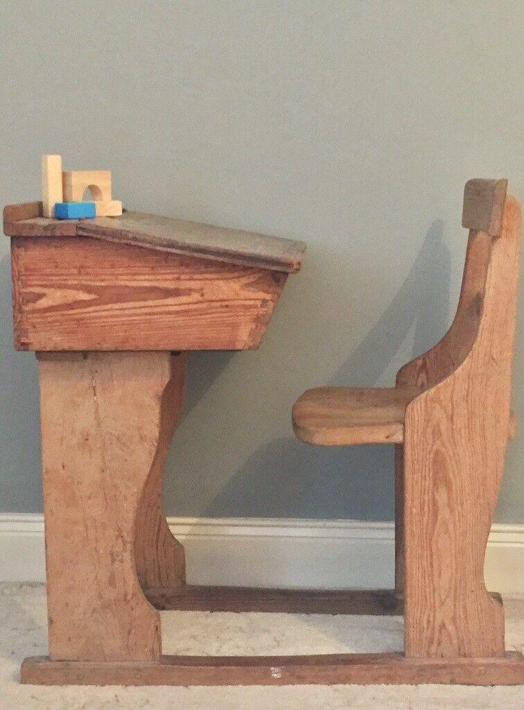SALE Vintage children's drop leaf desk. Interior blogger accessories.