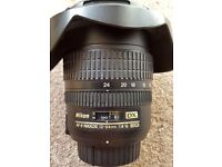Nikon Nikkor 12-24 f4G ED DX lens for sale in excellent condition