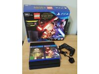 PS4 Slim, 500gb Starwars Lego, 2 Games, 1 Pad, Mains Cable, HDMI Cable, with Box
