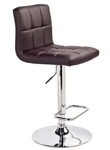 LORD SELKIRK FURNITURE Max Gas Lift Bar Stool White Brown Black or