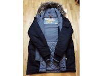 Superdry Mens Medium Microfibre Parka Jacket - Black