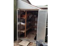 small 2nd hand lean-to metal shed