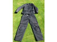 Motorcycle riding suit, suitable for rider around 6 foot, 44inch chest, 36 inch waist