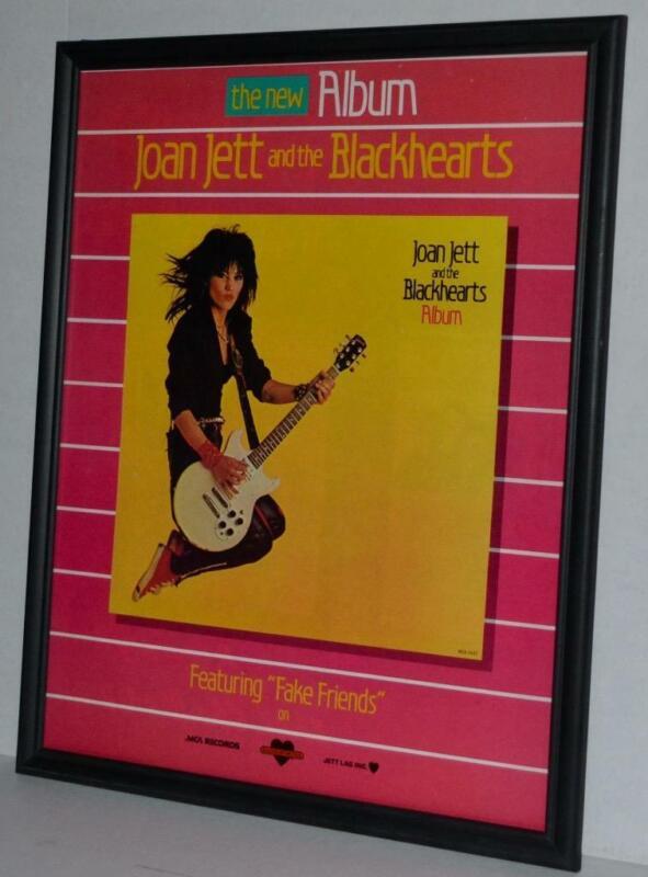 JOAN JETT BLACKHEARTS 1983 ALBUM PROMOTIONAL FRAMED PROMOTIONAL POSTER / AD