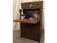 Old Charm Cocktail Bar retro vintage Drinks Cabinet Home Bar