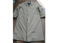 Mens M&S long (48in) raincoat Beige colour, size 42-44in