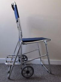 Shopping trolley luggage 2 wheels chair collapiable light weight FREE DELIVERY
