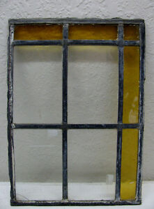 Antique-Old-Stained-Glass-Window-Vintage-Victorian-Artwork-Leaded-Panel-9x13